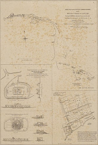 Expedition to Canton - Image: Pearl River sketch