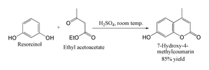 Pechmann condensation - The Pechmann condensation as applied to 7-hydroxy-4-methylcoumarin