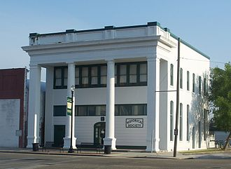 Taylor County Historical Society - The Bank of Perry building in Perry, Florida, home of the Taylor County Historical Society