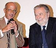 Il sindaco di Cosenza Salvatore Perugini e Pupi Avati, al cinema Modernissimo