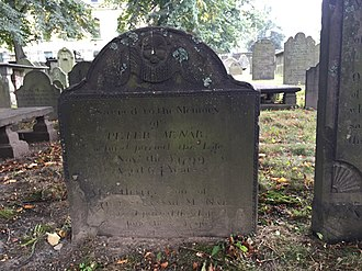 McNabs Island - Peter McNab, namesake of McNab's Island, Old Burying Ground (Halifax, Nova Scotia)