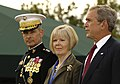 Peter Pace, Lynne Pace, and George W Bush, 2007.jpg