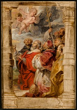 Peter Paul Rubens,The Princes of the Church Adoring the Eucharist, about 1626-1627. Speed Art Museum