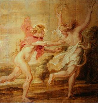 Daphne - Image: Peter Paul Rubens Apollon et Daphné