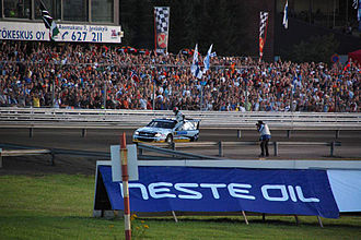 2009 Rally Finland - Petter Solberg on the Killeri super special stage