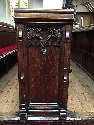 St Mary's Church, Watford - Detail of George Gilbert Scott's box pews