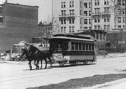 Pferdebahn NewYork um 1895