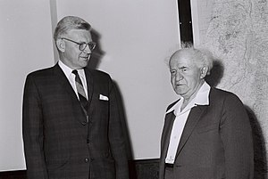 Phillips Talbot - Phillips Talbot, United States Assistant Secretary of State for Near Eastern and South Asian affairs, meeting Israel's PM David Ben-Gurion in Jerusalem