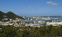 View towards Phillipsburg, Capital of St. Maarten
