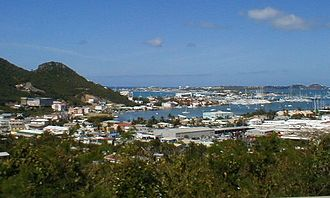 Sint Maarten - The port in Sint Maarten after Hurricane Irma