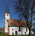 "Photo of the ""Evangelische Pfarrkirche (Güttersbach)"" also from the south. Please let this text suffice.JPG"