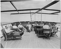 Photograph of President Truman and members of his party relaxing on the after deck of the presidential yacht, the... - NARA - 199031.tif