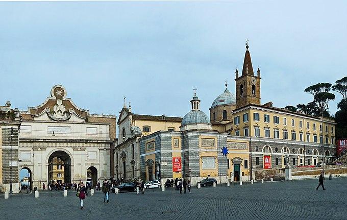Piazza del Popolo Porta Flaminia