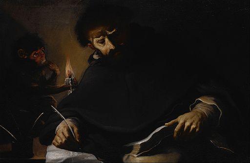 Pietro della Vecchia - St. Dominic and the Devil - Google Art Project