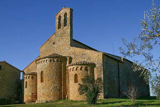 Castelmuzio, Pieve di Santo Stefano a Cennano. Absidi