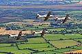Pilatus PC-9 of the Irish Air Corp flying in formation 14.jpg