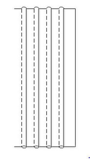 Tuck (sewing) - Drawing of pintucks