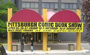 Pittsburgh Comicon - The entrance to the 2008 Pittsburgh Comicon at the Monroeville, Pennsylvania Expomart.