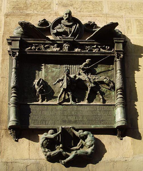 File:Placa edición príncipe Quijote 1604.jpg