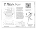 Plan and Elevations - 25 Middle Street (House), 25 Middle Street, Valley, Chambers County, AL HAER AL-176 (sheet 1 of 1).png