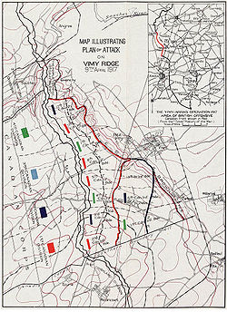 Map Of France Vimy.Canadian National Vimy Memorial Wikipedia
