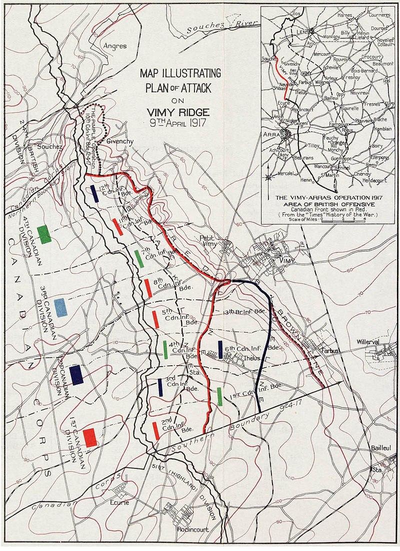 Plan of Attack Vimy Ridge
