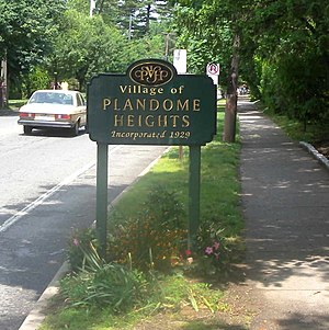 Plandome Heights, New York - Image: Plandome Heights 1929 sign jeh