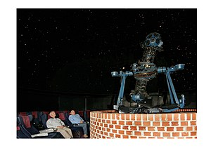 South Downs Planetarium & Science Centre - The Viewlex-Minolta IIb star projector in the main auditorium at the South Downs Planetarium.