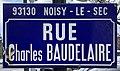 Plaque Rue Charles Baudelaire - Noisy-le-Sec (FR93) - 2021-04-16 - 1.jpg