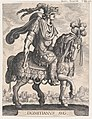 Plate 12- Emperor Domitian on horseback, from 'The First Twelve Roman Caesars' after Tempesta MET DP857116.jpg