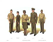 Plate II, Enlisted Service Uniforms - U.S. Marine Corps Uniforms 1983 (1984), by Donna J. Neary