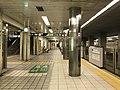 Platform of Awaza Station (Sennichimae Line) 2.jpg