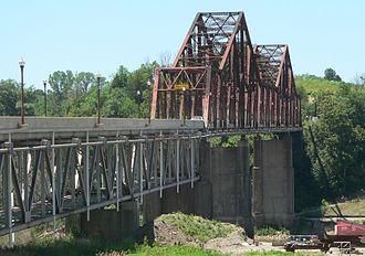 U.S. Route 34 in Iowa - The Plattsmouth Bridge in 2013