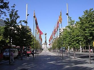 Zaragoza (comarca) - Plaza de Aragón in Zaragoza city