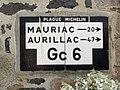 Pleaux, plaque Michelin Gc 6.jpg