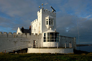 Point Lynas Lighthouse lighthouse, Grade II listed building in Anglesey, Wales; on Point Lynas, 1km approx N of Llaneilian