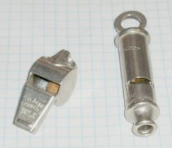 Examples of police whistles