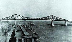Jacques Cartier Bridge - The Bridge seen in 1930.