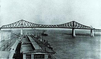Jacques Cartier Bridge - The Bridge seen in 1930.