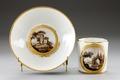 Porslins kopp med fat från 1790-talet - Hallwylska museet - 93842.tif