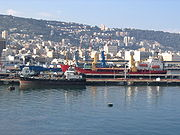 Port of Haifa, viewed from the sea