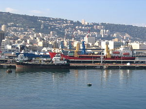Port of Haifa - Port of Haifa, viewed from the harbor.