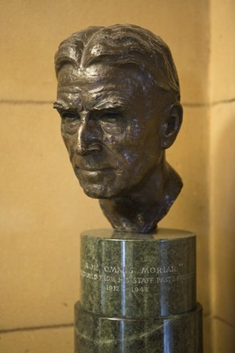 William Herbert Ifould - Bronze bust on marble stand by sculptor Arthur Fleischmann