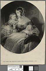 The Queen, The Princess Royal & The Prince of Wales-1842