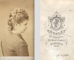 Portrait of woman by Coonley of Main Street in Memphis Tennessee.png