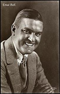 Ernst Rolf Swedish actor
