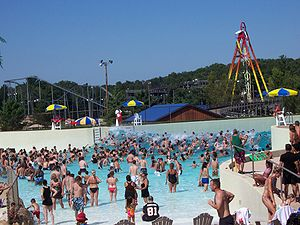 Wave pool - The outdoor wave pool of Mt. Olympus Water & Theme Park in Wisconsin Dells, Wisconsin.