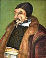 Possibly Ulrich Zasius (1461-1536), humanist, lawyer, the painting is usually referred to as the jurist, 1566, by Giuseppe Arcimboldo (1527-1593). Nationalmuseum, Stockholm, Sweden.jpg