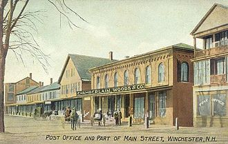 Winchester, New Hampshire - Postcard of town, 1909