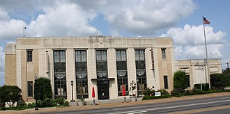National Register of Historic Places listings in Cherokee County, Texas - Image: Post Office in Jacksonville, Texas
